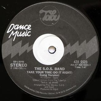 Take Your Time (Do It Right) - Image: Take Your Time (Do It Right) by SOS Band U.S. 12 inch vinyl