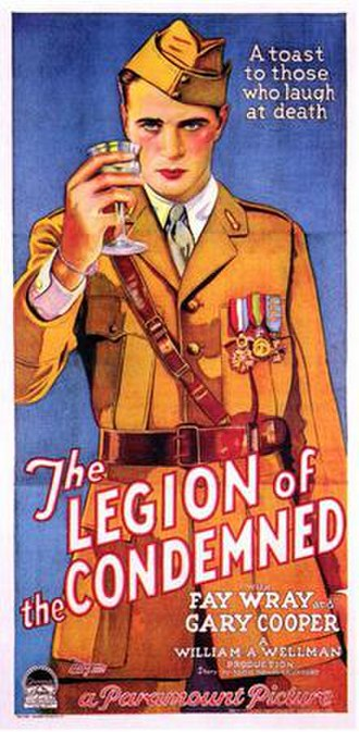 The Legion of the Condemned - Image: The Legion of the Condemned 1928 Poster