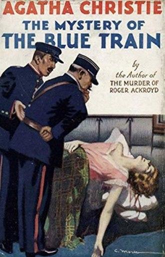 Le Train Bleu - Cover of Agatha Christie's novel The Mystery of the Blue Train