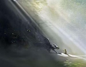 """How to Train Your Dragon (film) - Early production concept artwork of """"Toothless"""" and """"Hiccup"""""""