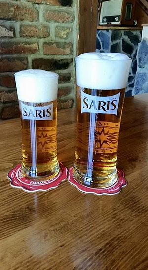 Šariš Brewery - Image: Two glasses of Saris