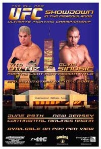 A poster or logo for UFC 32: Showdown in the Meadowlands.