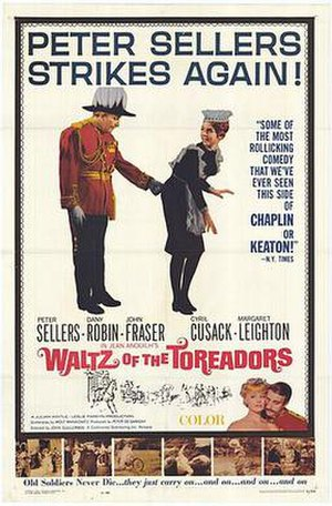 Waltz of the Toreadors (film) - Original US film poster