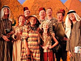 Ron Weasley - The Weasley family as shown in Harry Potter and the Prisoner of Azkaban, for left to right: Fred or George, Ron, Charlie, Molly, Arthur, Ginny, Bill, Percy, and George or Fred.