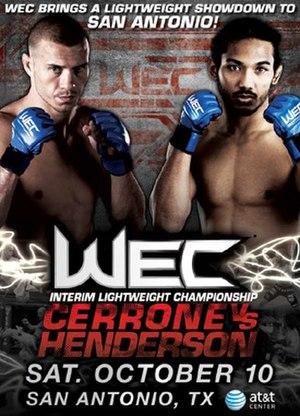 WEC 43 - Image: Wec 43 san antonio poster