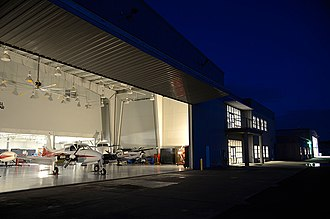 Middle Georgia State University - Eastman Campus hangar at the Heart of Georgia Regional Airport.