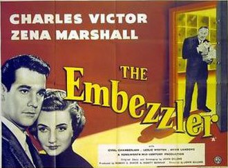 The Embezzler (1954 film) - UK theatrical poster