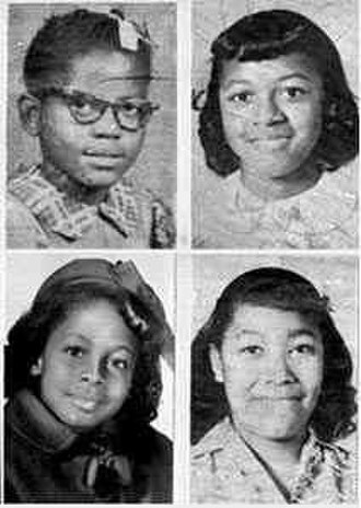 16th Street Baptist Church bombing - The four girls killed in the bombing (Clockwise from top left) Addie Mae Collins (14), Cynthia Wesley (14), Carole Robertson (14), and Carol Denise McNair (11)