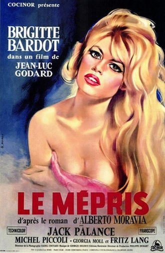 Contempt (film) - French film poster