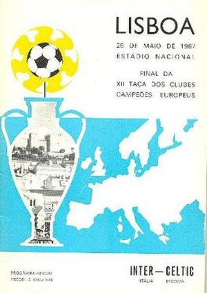 1967 European Cup Final - Match programme cover