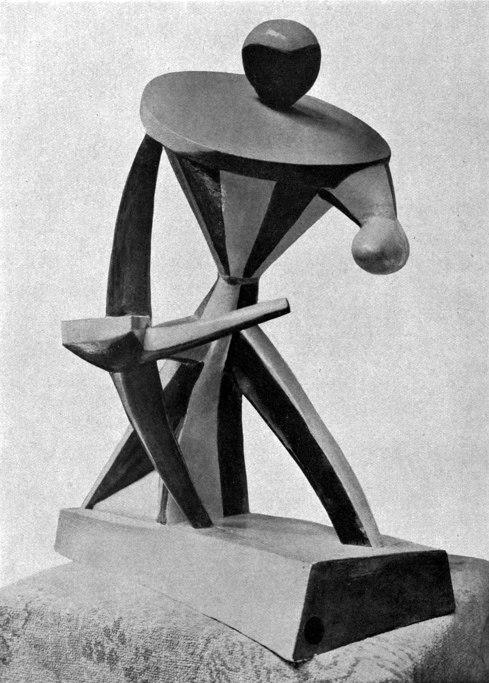 Alexander Archipenko, 1913, Pierrot-carrousel, painted plaster, 61 × 48.6 × 34 cm, Solomon R. Guggenheim Museum, New York. Reproduced in Archipenko-Album, 1921