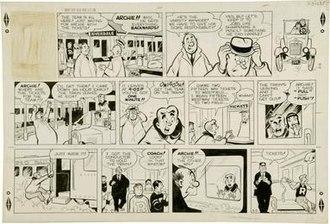 Archie (comic strip) - March 3, 1957 original Bob Montana artwork.