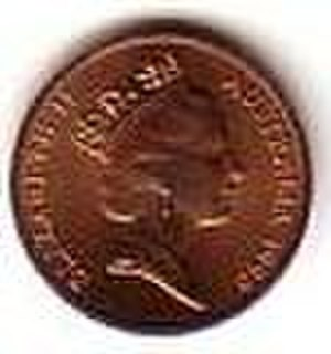 Australian one-cent coin - Image: Australian 1 cent coin observse