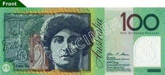 Australian dollar - Image: Australian $100 polymer front