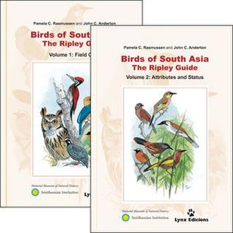 Birds of South Asia. The Ripley Guide - Image: Bo SA covers