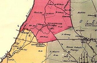 Van Nest, Bronx - Area now known as Van Nest in 1868