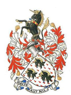 John Brooke-Little - Arms of John Brooke-Little, as painted by Anthony Wood.