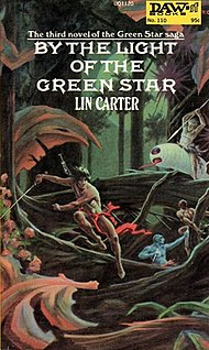 <i>By the Light of the Green Star</i> novel by Lin Carter