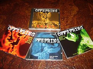 "Smash (The Offspring album) - Smash, as well as the CD singles ""Come Out and Play,"" ""Self Esteem,"" and ""Gotta Get Away"" all share imagery of an X-ray style skeleton on their covers."