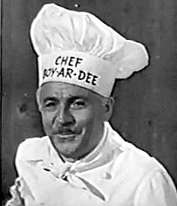 Chef Boyardee in an early television commercial.