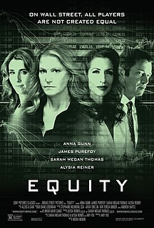 <i>Equity</i> (film) 2016 American film directed by Meera Menon