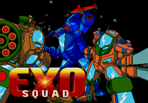 Exosquad (video game) - The title screen