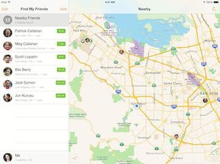 Find My Friends Application and service for iOS
