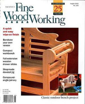 Fine Woodworking - August 2000 cover, 25th anniversary year