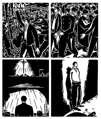 Wordless novel - Wordless novels flourished in Germany in the 1920s and typically were made using woodcut or similar techniques in an Expressionist style. (Frans Masereel, 25 Images of a Man's Passion, 1918)