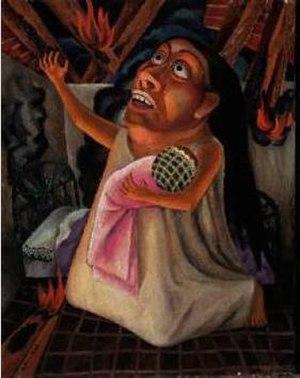 Gabriel Fernández Ledesma - 'Terrible Disaster' (1928). Oil on canvas.
