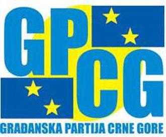 Civic Party of Montenegro - Image: Građanska Partija Crne Gore (logo)