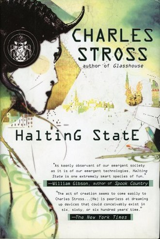 Halting State - Cover of first edition (hardcover)