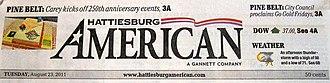 Hattiesburg American - Image: Hattiesburg American Masthead 1
