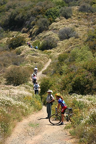 Backbone Trail - The Backbone Trail between Will Rogers State Historic Park and Trippet Ranch in Topanga State Park