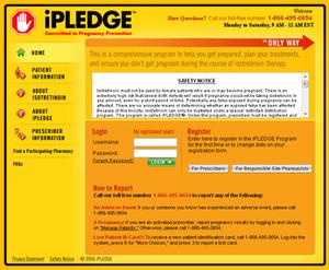 IPLEDGE program - Image: Ipledgeprogram.com screenshot
