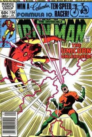 Unicorn (comics) - Image: Iron Man 154