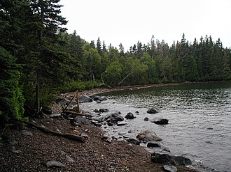 Isle Royale - Beach at Huginnin Cove camp area