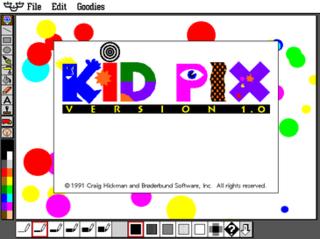 <i>Kid Pix</i> Bitmap drawing program designed for children