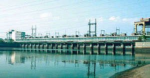 Kaniv Hydroelectric Power Plant - The dam of Kaniv Hydroelectric Power Plant