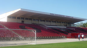 Lokomotiv Stadium (Sofia) - Image: Lokomotiv stadium, main stand