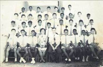 Bukit Bintang Boys' Secondary School - McGregor in a 1961 class photo