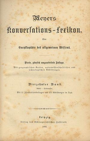 Bibliographisches Institut - Image: Meyers Konv Lexikon 4