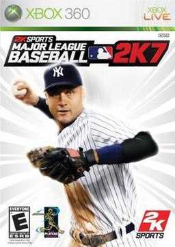 The cover of MLB 2K7 for Xbox 360.