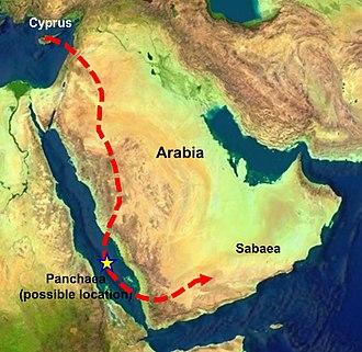 Myrrha - Myrrha's flight from her father