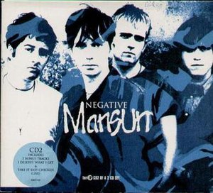 Negative (Mansun song) - Image: Negative CD2 front