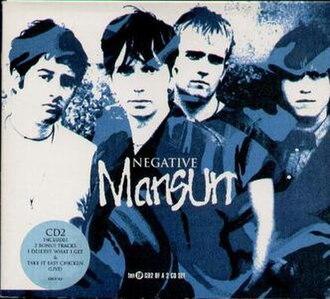 Negative (Mansun song) - Image: Negative CD2 front