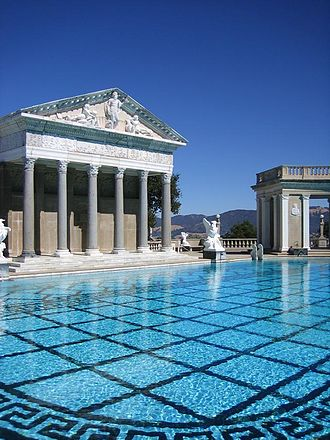 Neptune Pool - Neptune Pool and Roman Temple facade.