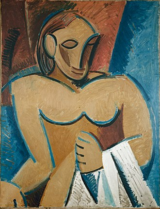 Picasso's African Period - Image: Pablo Picasso, 1907, Nu à la serviette, oil on canvas, 116 x 89 cm