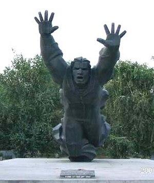 193rd Tank Division - Monument to Mikhail Panikakha in Volgograd