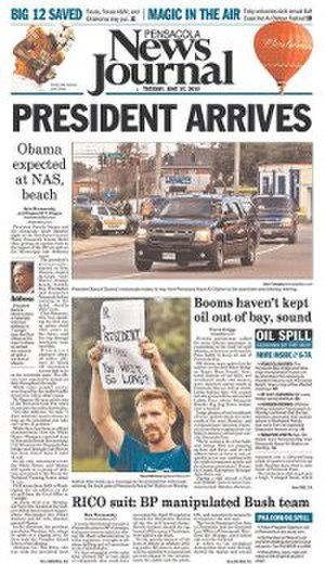 Pensacola News Journal - Image: Pensacola News Journal front page